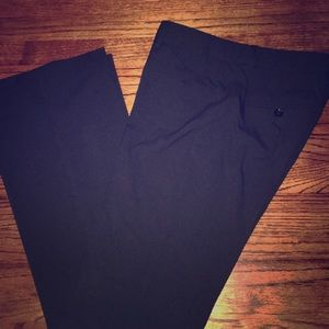 Black straight leg trousers from Express